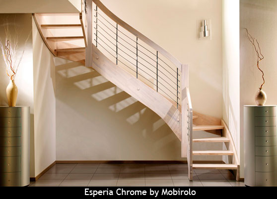 Chrome staircase